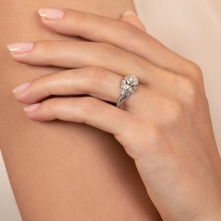Art Deco 1.07 Carat Diamond Engagement Ring - GIA G VS1