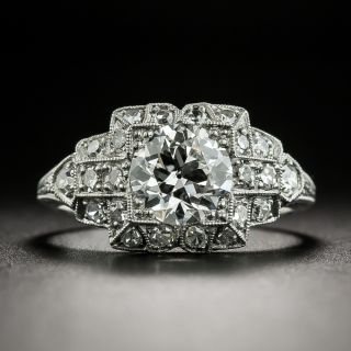 Art Deco 1.07 Carat Diamond Engagement Ring - GIA G VS1 - 2