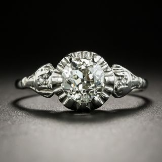 Art Deco 1.07 Carat Diamond Engagement Ring - GIA L Si2 - 3