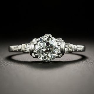 Art Deco 1.07 Carat Diamond Solitaire Engagement Ring - GIA I SI2  - 1