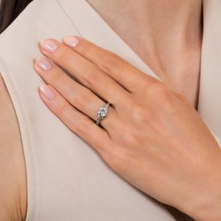 Art Deco 1.07 Carat Diamond Solitaire Engagement Ring - GIA I SI2