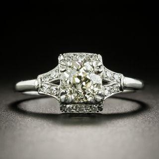 Art Deco 1.08 Carat Diamond Engagement Ring  - 2