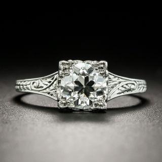 Art Deco 1.08 Carat Diamond Solitaire Engagement Ring - GIA I VS1 - 1
