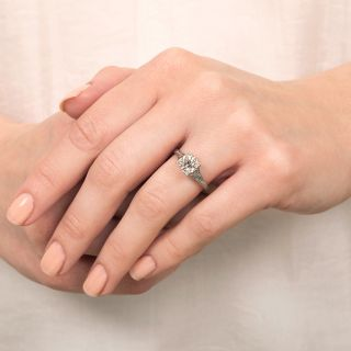 Art Deco 1.08 Carat Diamond Solitaire Engagement Ring - GIA I VS1