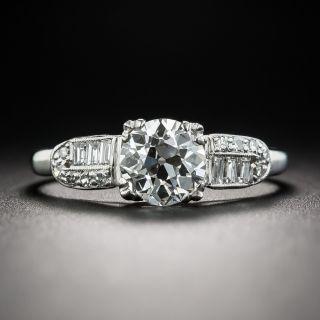 Art Deco 1.09 Carat Diamond Platinum Engagement Ring - GIA J VS1 - 1