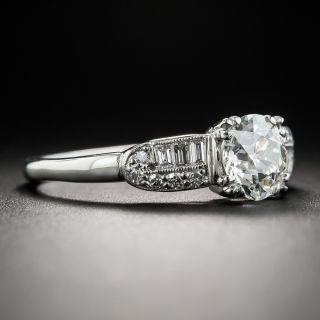 Art Deco 1.09 Carat Diamond Platinum Engagement Ring - GIA J VS1