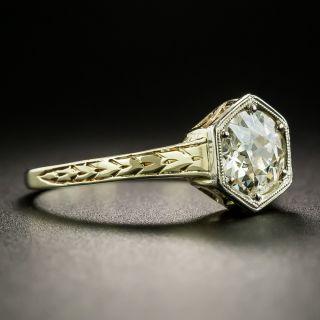 Art Deco 1.09 Carat Diamond Solitaire Engagement Ring - GIA N I1
