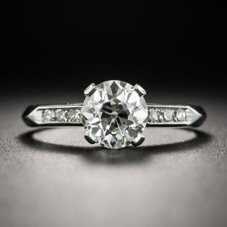 Art Deco 1.10 Carat Diamond Platinum Engagement Ring - GIA I VVS2 - 2