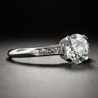 Art Deco 1.10 Carat Diamond Platinum Engagement Ring - GIA I VVS2