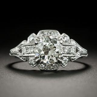Art Deco 1.12 Carat Diamond Engagement Ring by Schless, Brod & Co - GIA L VS1  - 1