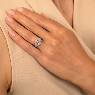 Art Deco 1.12 Carat Diamond Engagement Ring by Schless, Brod & Co - GIA L VS1