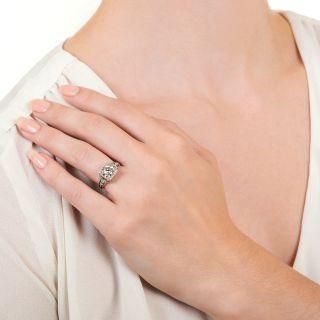 Art Deco 1.12 Carat Diamond Engagement Ring - GIA H VS2