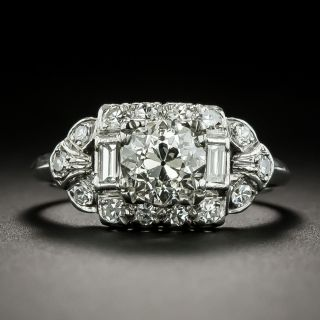 Art Deco 1.12 Carat Diamond Engagement Ring - GIA K SI1, by Van Craeynest & Linzer - 2