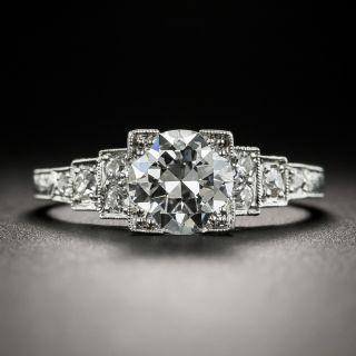Art Deco 1.13 Carat Diamond Platinum Engagement Ring - GIA D VS1 - 2