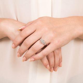 Art Deco 1.13 Carat Diamond Platinum Engagement Ring - GIA D VS1