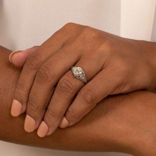 Art Deco 1.15 Carat Diamond Engagement Ring - GIA I VVS2