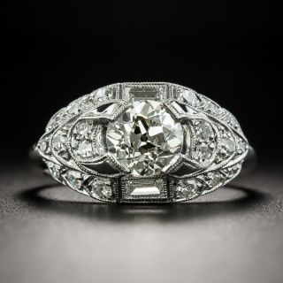 Art Deco 1.15 Carat Diamond Engagement Ring - GIA M SI1 - 2