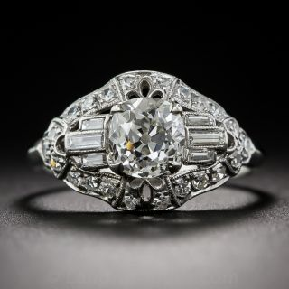 Art Deco 1.16 Carat Diamond Engagement Ring - GIA I VS1 - 1