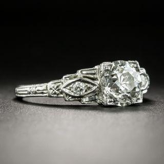 Art Deco 1.18 Carat Diamond Engagement Ring - GIA K VVS2