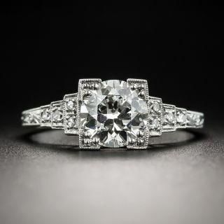 Art Deco 1.18 Carat Diamond Platinum Engagement Ring - GIA J SI2 by J. R. Wood - 1