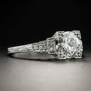 Art Deco 1.18 Carat Diamond Platinum Engagement Ring - GIA J SI2 by J. R. Wood