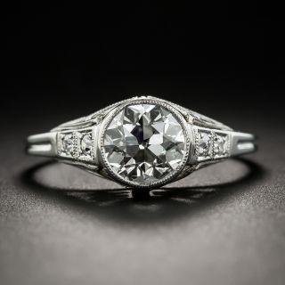 Art Deco 1.19 Carat Platinum and Diamond Engagement Ring - GIA J SI1 - 2