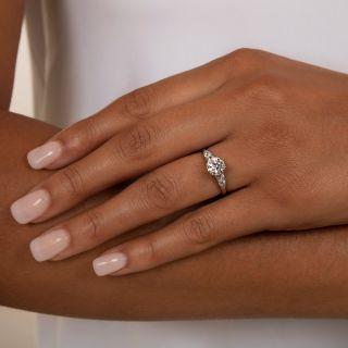 Art Deco 1.20 Carat Diamond Engagement Ring - GIA G VS2