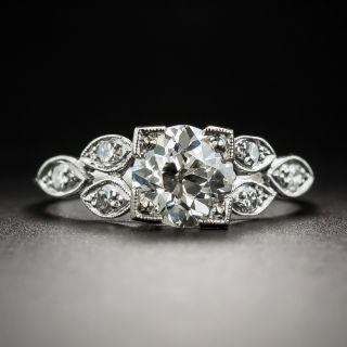 Art Deco 1.20 Ct. Diamond Platinum Engagement Ring - GIA J VS2 - 3