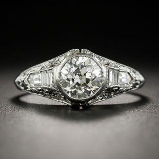 Art Deco 1.20 Carat Diamond Platinum Engagement Ring - 2