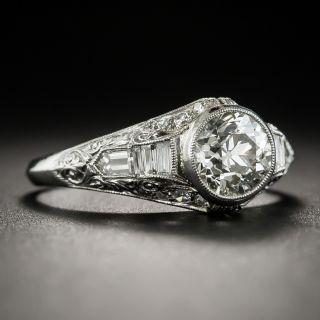 Art Deco 1.20 Carat Diamond Platinum Engagement Ring