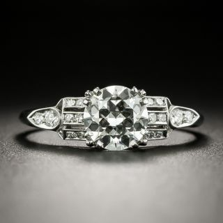 Art Deco 1.21 Carat Diamond Engagement Ring by Schless, Brod & Co. - GIA I SI1 - 2
