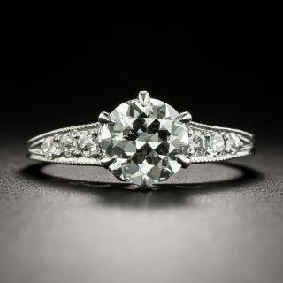 Art Deco 1.21 Carat Diamond Engagement Ring - GIA I SI2 - 3