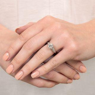 Art Deco 1.21 Carat Diamond Engagement Ring - GIA I SI2