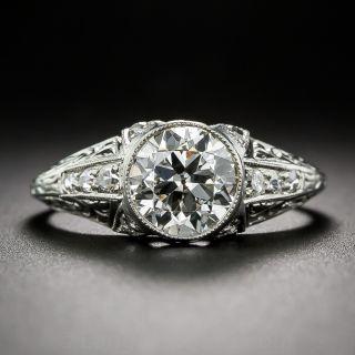 Art Deco 1.22 Carat Diamond Engagement Ring - GIA J SI1 - 1