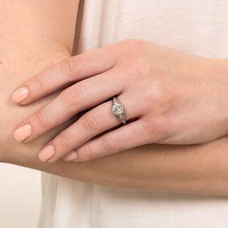 Art Deco 1.22 Carat Diamond Engagement Ring - GIA J SI1