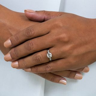 Art Deco 1.22 Carat Diamond Engagement Ring - GIA K SI1