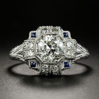 Art Deco 1.23 Carat Diamond Engagement Ring - GIA J VS2 - 3