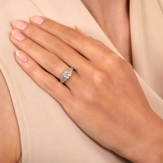 Art Deco 1.24 Carat Diamond Engagement Ring - GIA H VS2