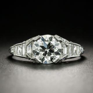 Art Deco 1.24 Carat Diamond Platinum Engagement Ring - GIA H VS2 - 2
