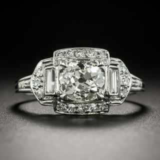Art Deco 1.27 Carat Diamond Engagement Ring - GIA L SI1 - 3