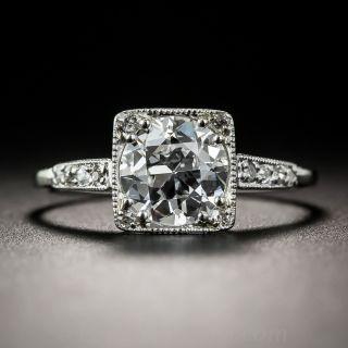 Art Deco 1.30 Carat Art Deco Diamond Engagement Ring - GIA D VS2 - 1