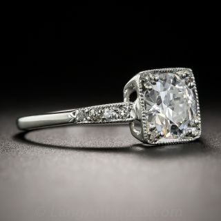 Art Deco 1.30 Carat Art Deco Diamond Engagement Ring - GIA D VS2