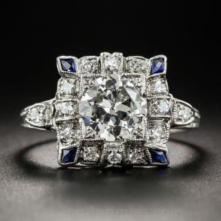 Art Deco 1.30 Carat Diamond Engagement Ring - 1