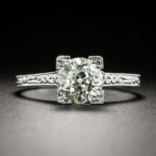 Art Deco 1.31 Carat Diamond Solitaire - GIA M VS1 - 3