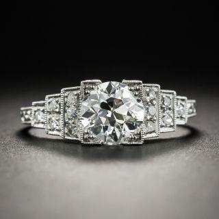 Art Deco 1.32 Carat Diamond Engagement Ring GIA I-VS2 - 1