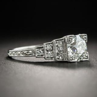 Art Deco 1.32 Carat Diamond Engagement Ring GIA I-VS2