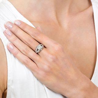 Art Deco 1.33 Carat Diamond Platinum Engagement Ring - GIA J VS2