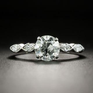 Art Deco 1.33 Carat Diamond Platinum Engagement Ring - GIA - 2