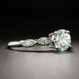 Art Deco 1.33 Carat Diamond Platinum Engagement Ring - GIA