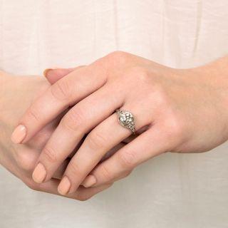 Art Deco 1.36 Carat Diamond Engagement Ring - GIA I VS 2